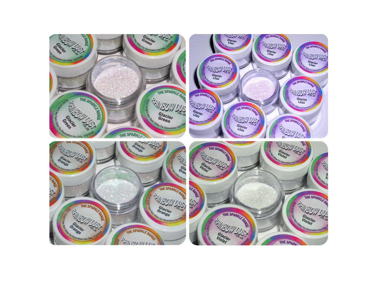 Rainbow Dust Hologram NON-TOXIC Cake Decoration Glitters Sugarcraft Sparkle