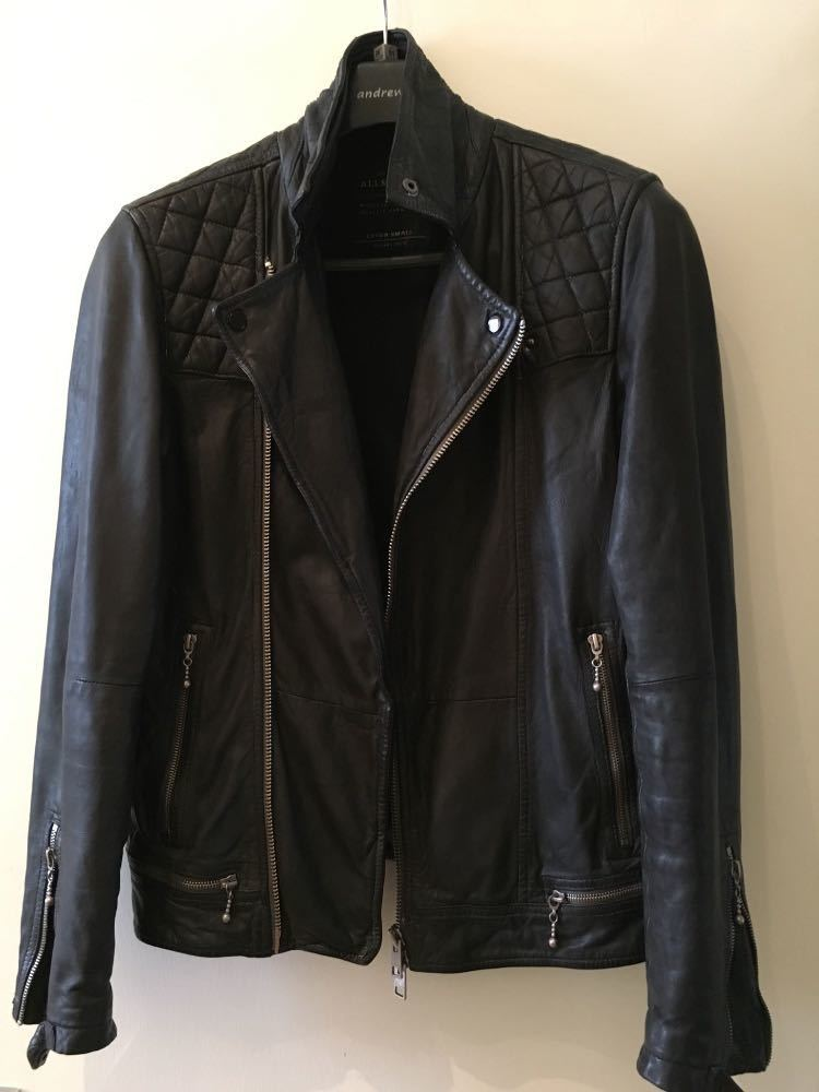 d67064168 Allsaints Conroy Mens Leather Biker Jacket