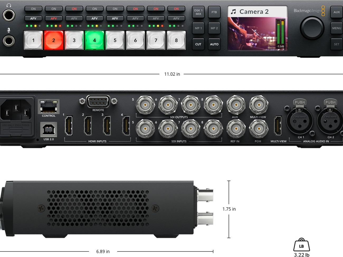 Rent Blackmagic Atem Television Studio Hd Vision Mixer In London Rent For 50 00 Day 42 86 Week