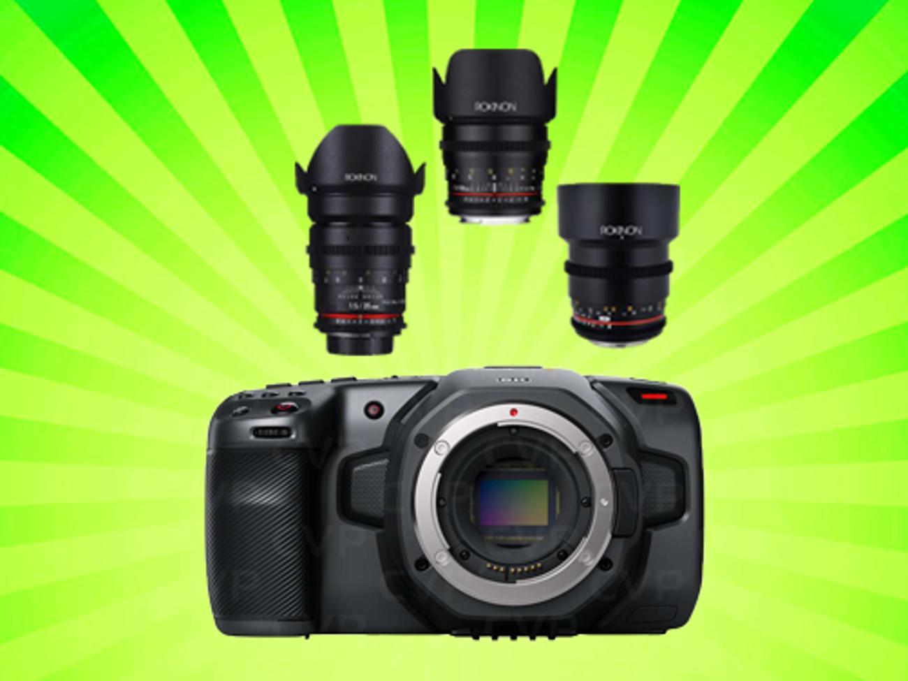 Rent Blackmagic Pocket Cinema 6k Bmpcc 6k Samyang Cine Lenses In London Rent For 70 00 Day 68 57 Week