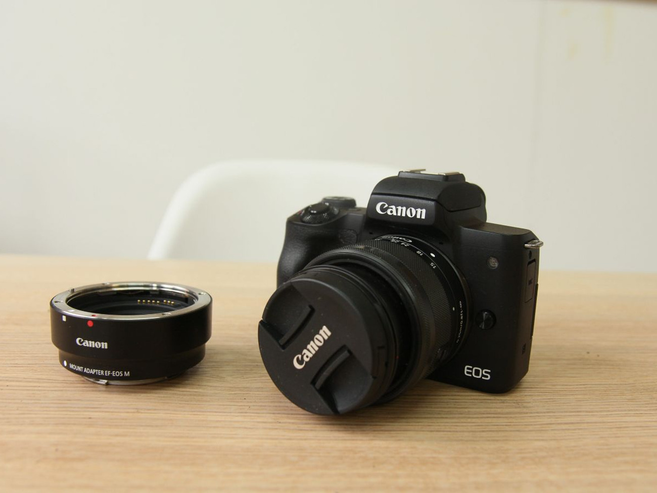 Canon M50 Mirrorless DLSR with 15-45mm lens