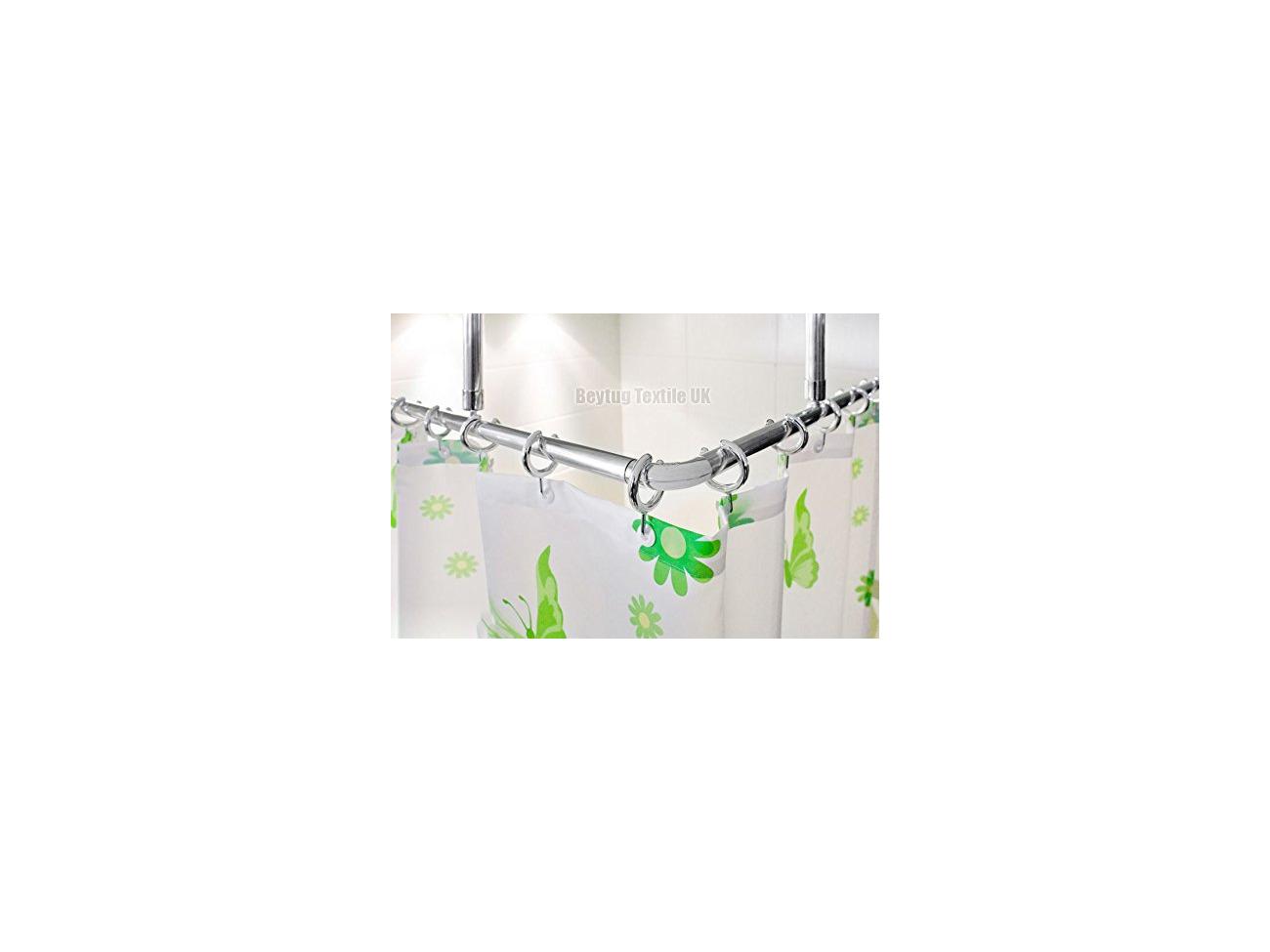 Buy Corner Shower Curtain Rail Rod 120 X 120cm L Shape 2 X