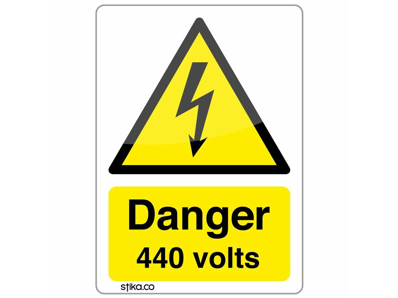 CAUTION MIND THE STEP Sign Sticker Vinyl Health and safety 300mm x 100mm