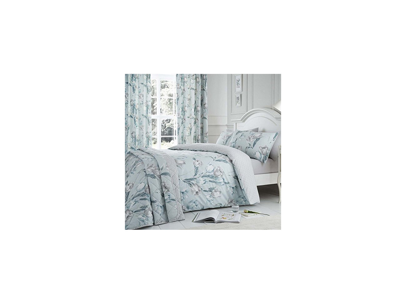 Duck Egg Tulip Easy Care Duvet Cover Set Dreams /& Drapes King