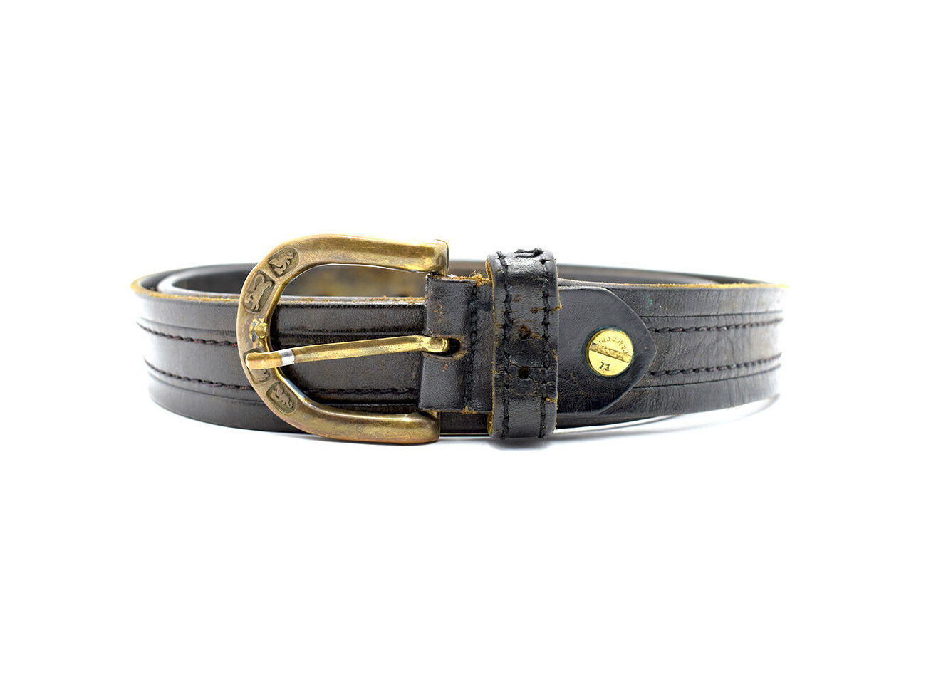 Rent El Campero Vintage Mens Leather Belt Black Brown Size 38 In London Rent For 0 00 Day