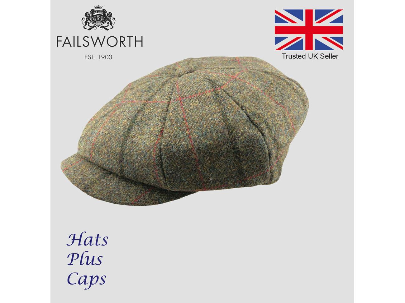 071e4785 Buy Failsworth Alfie Peaky Blinders Newsboy Cap English Tweed 100% Wool  Country Hat | Fat Llama