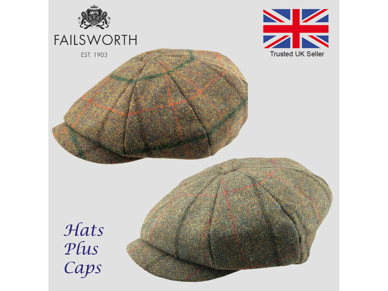 Failsworth Wax Cotton Newsboy Alfie Cap Peaky Blinders Shooting NAVY BLUE