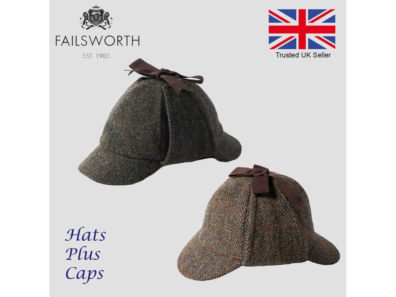 Deer Stalker Hat Failsworth Harris Tweed Sherlock