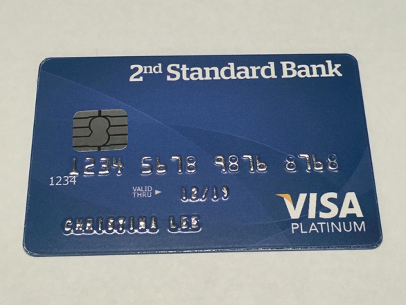 Fake EVM Visa Chip Credit Card