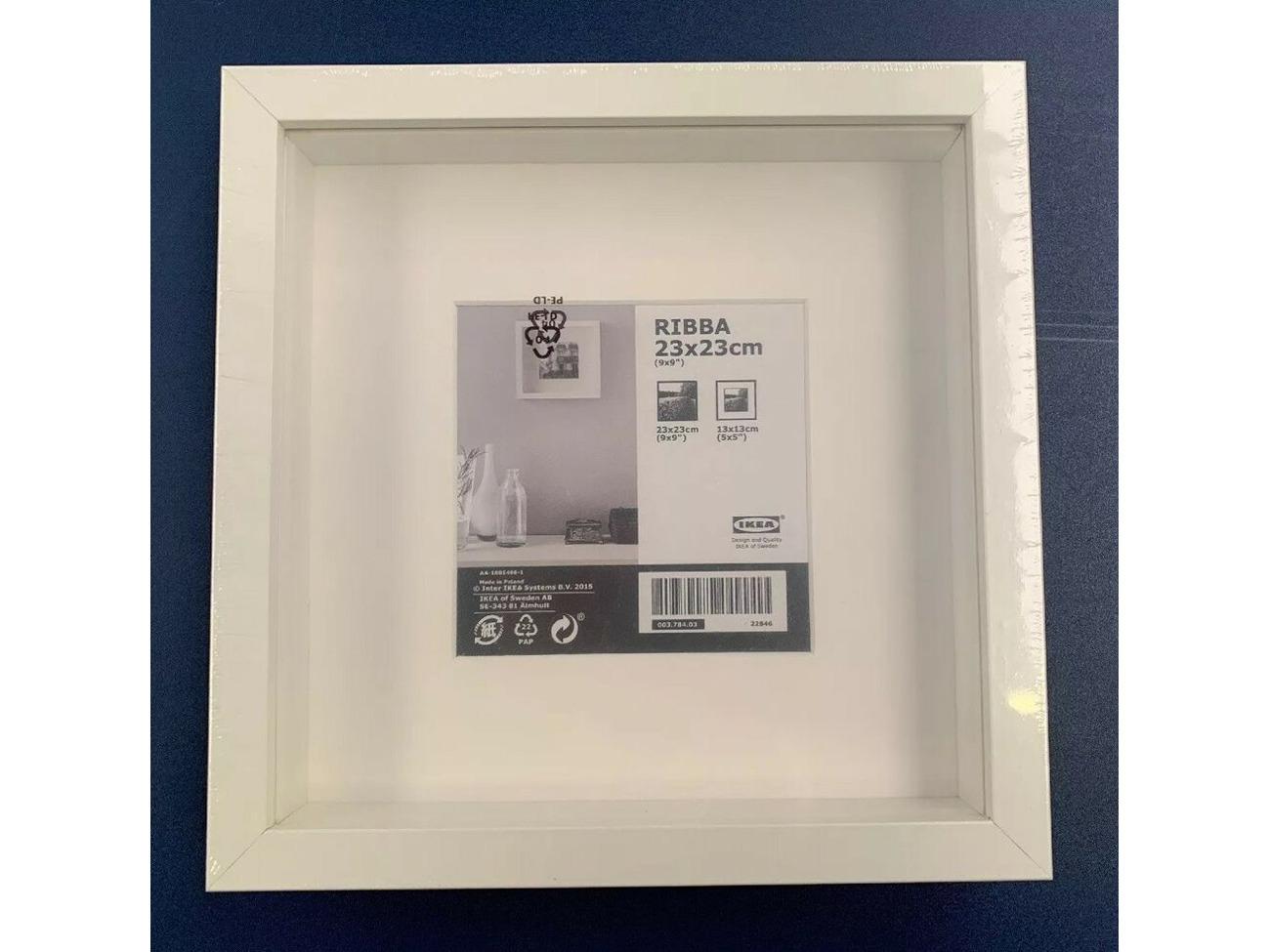 IKEA Ribba 9x9 White Picture Frame