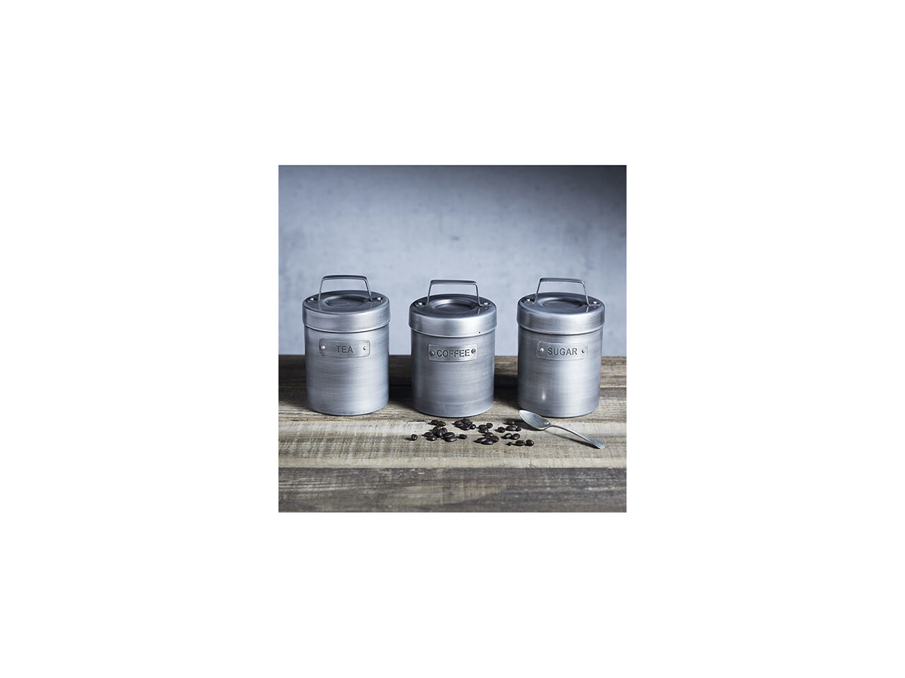 KitchenCraft Industrial Kitchen Vintage-Style Metal Coffee Canister 1.75 pts 1 L