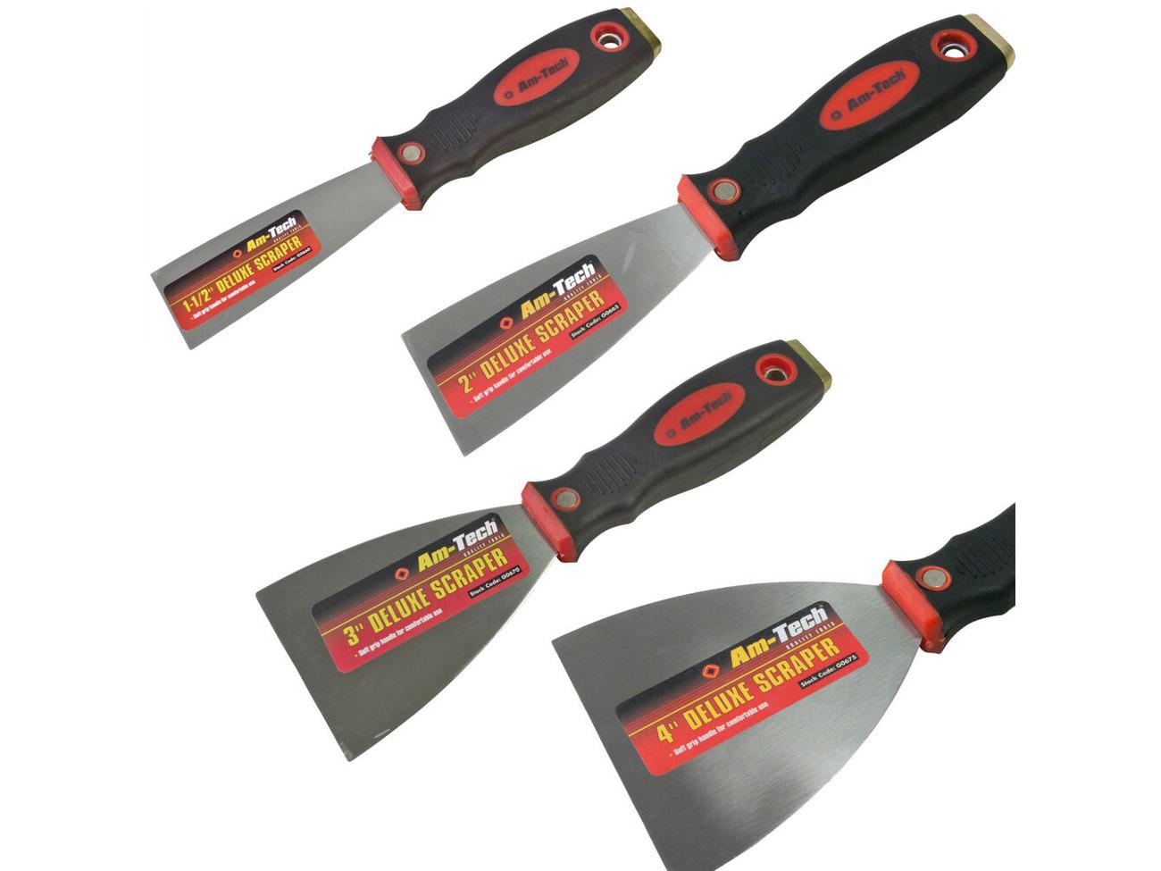 """Buy Paint Scraper 1 5""""- 2""""- 3""""- 4"""" Tempered Spring Steel"""