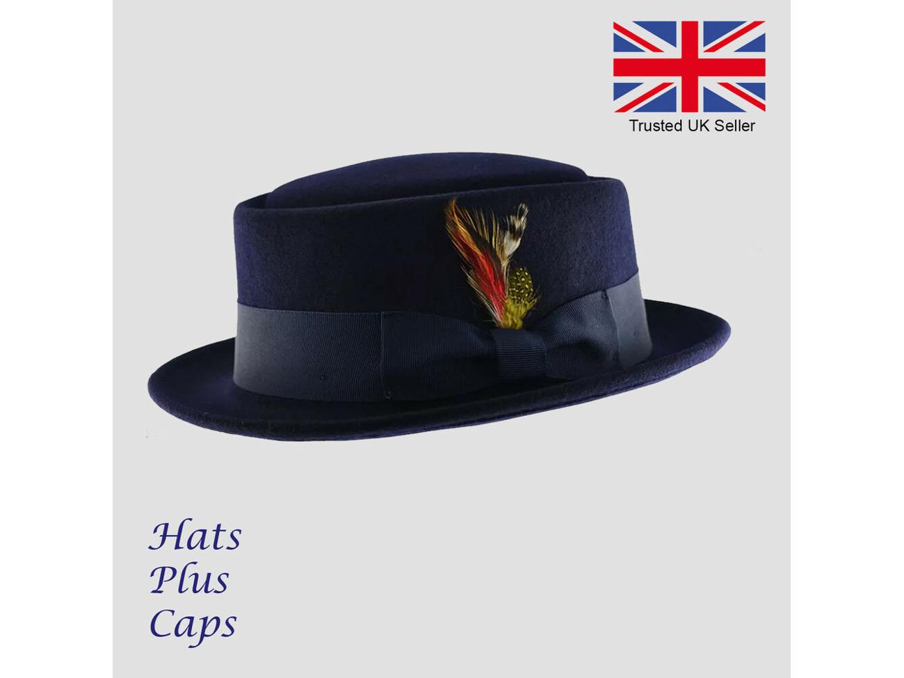 dc774263 Buy Pork Pie Hat 100% Wool Handmade Crushable Navy Breaking Bad Heisenberg  Hat | Fat Llama