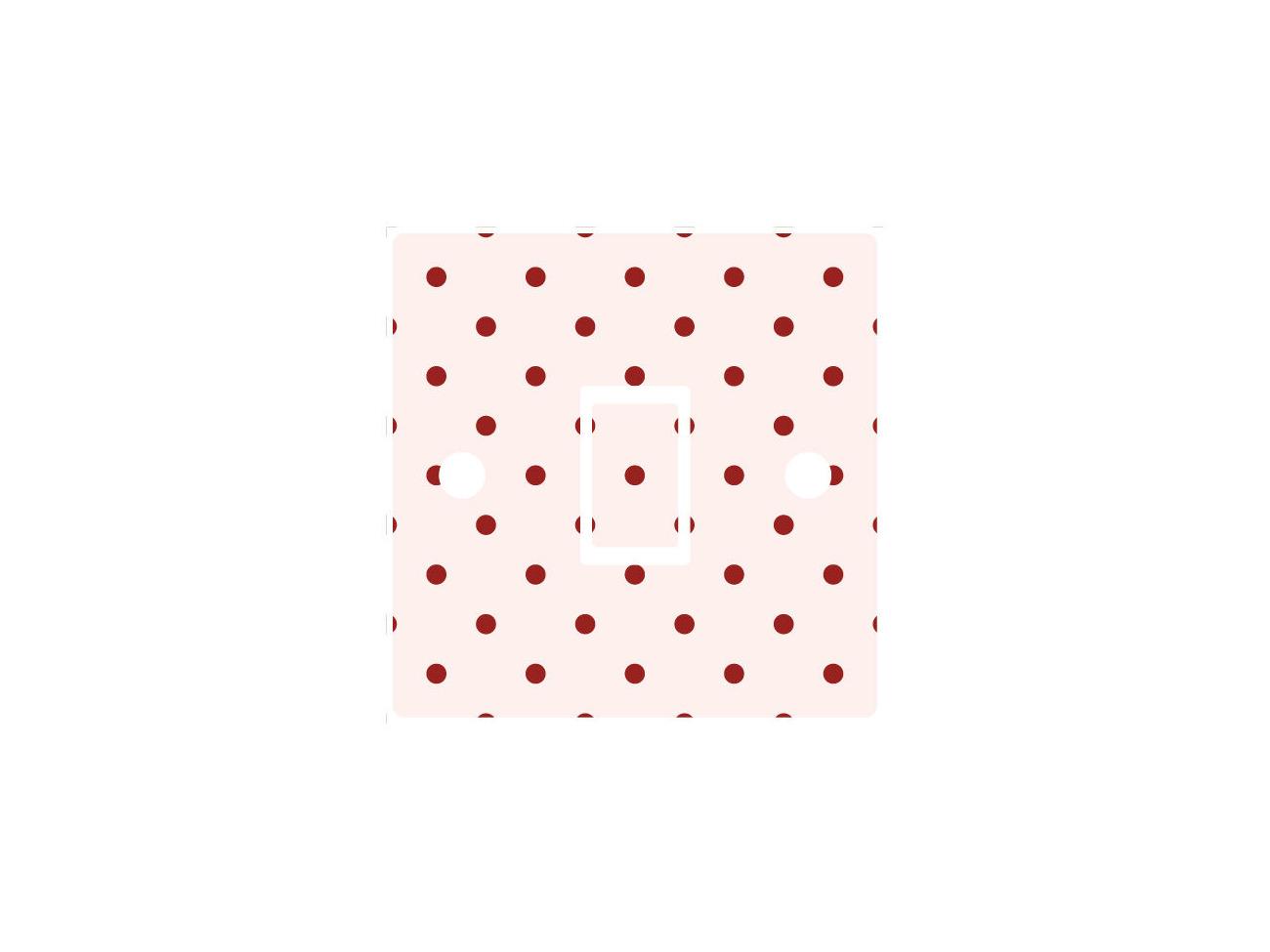 Red Polka Dot Light Switch Sticker vinyl cover skin spotted white wallpaper art