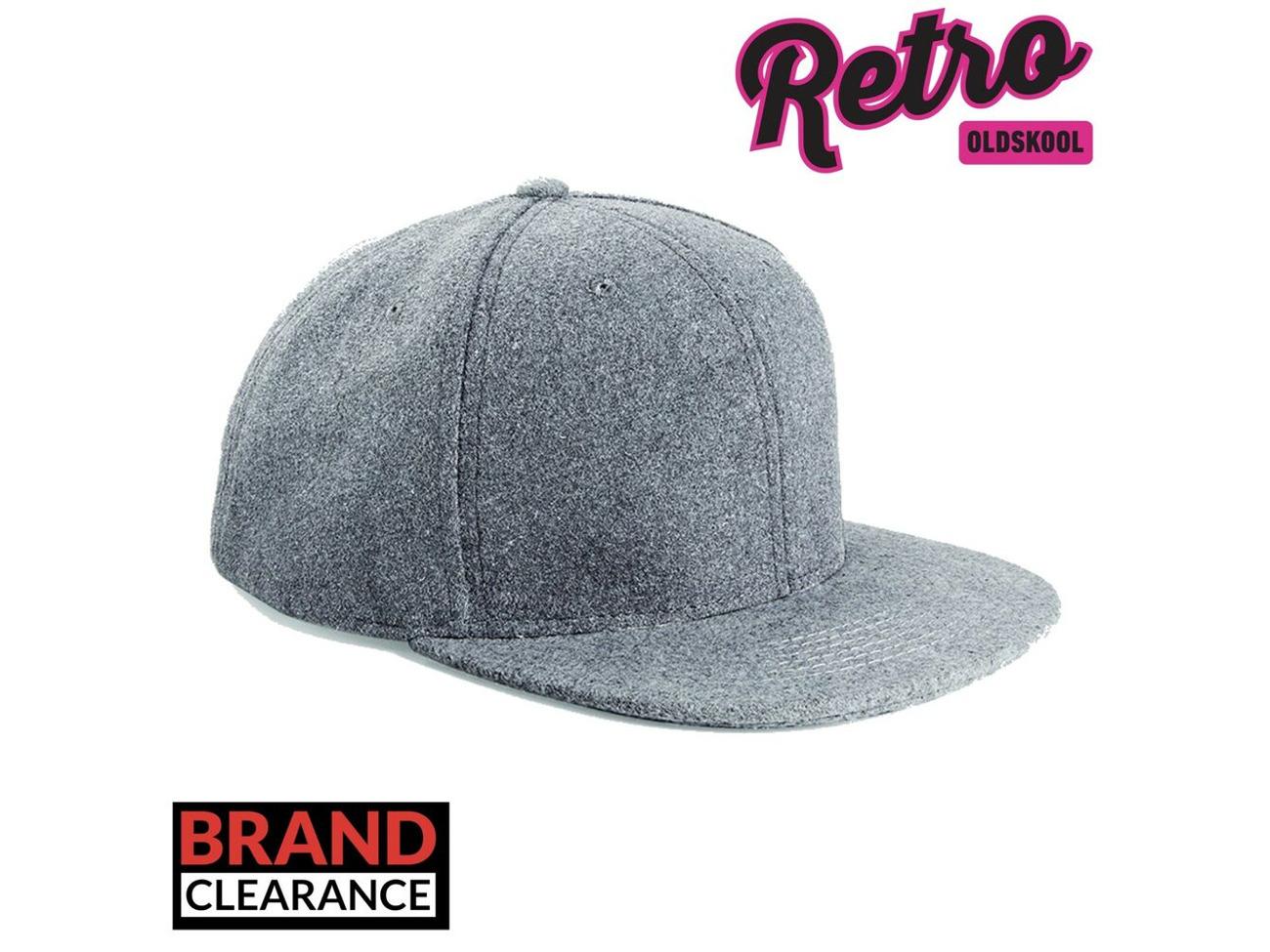 Unisex Womens Mens Melton Wool Flat Peak Adjustable Baseball Snapback Cap Hat