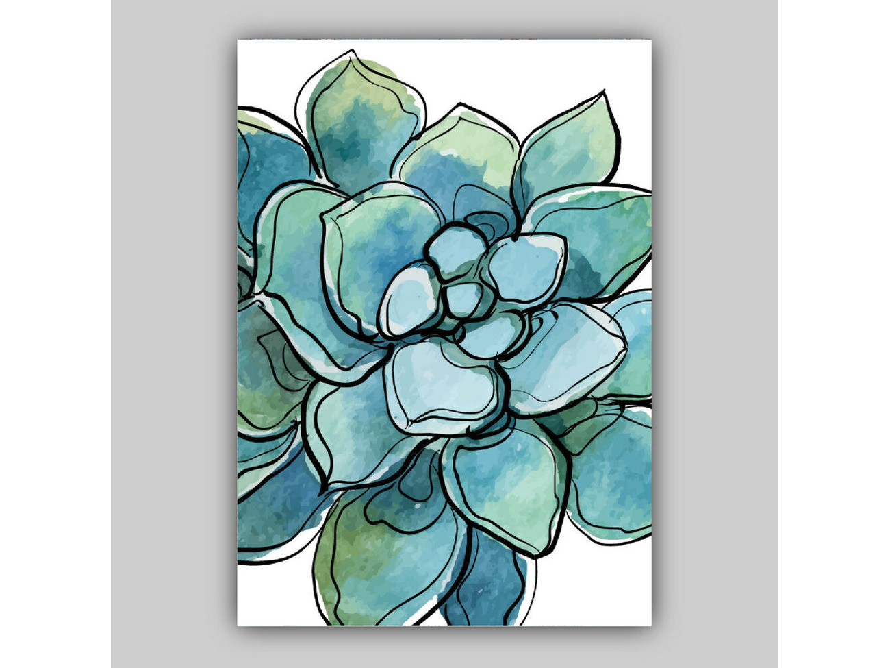 Rent Set Of 3 Watercolour Cactus Succulents Blue Green Orange Floral Art Prints Only In London Rent For 0 00 Day