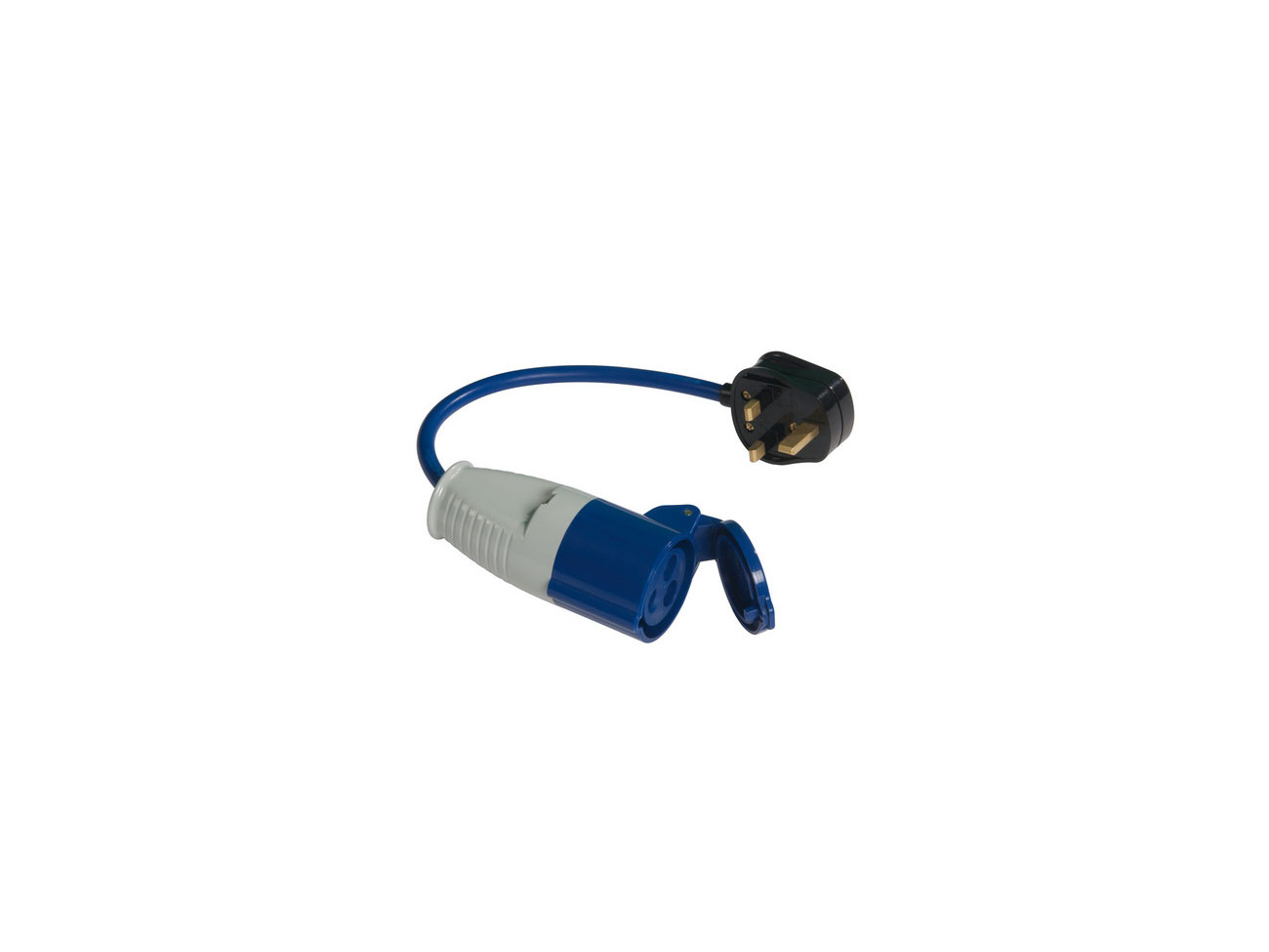 Powermaster 13A 16A Fly Lead Converter 13A Plug to 16A Socket
