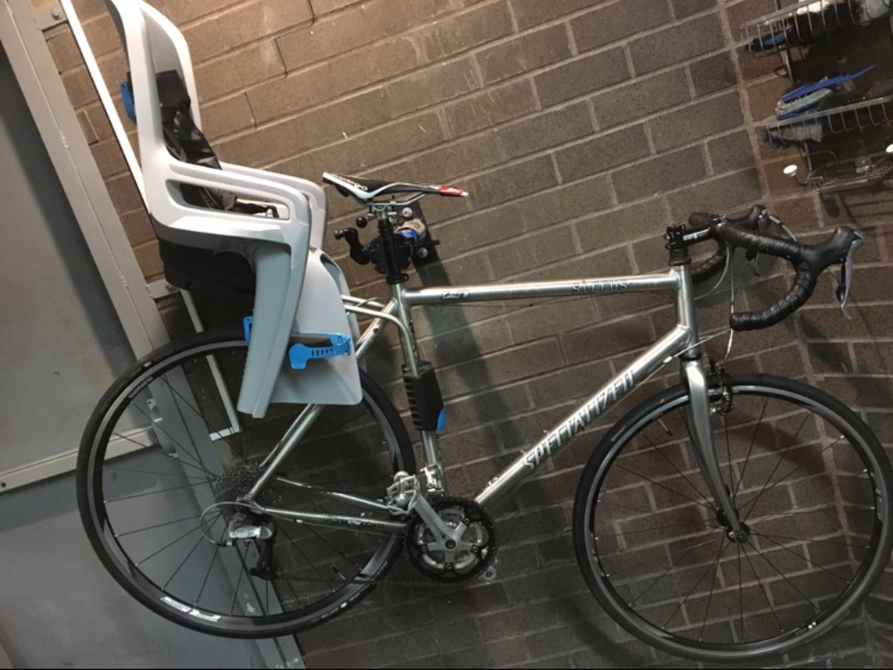 Specialized sirrus bike/Thule Child Bike Seat