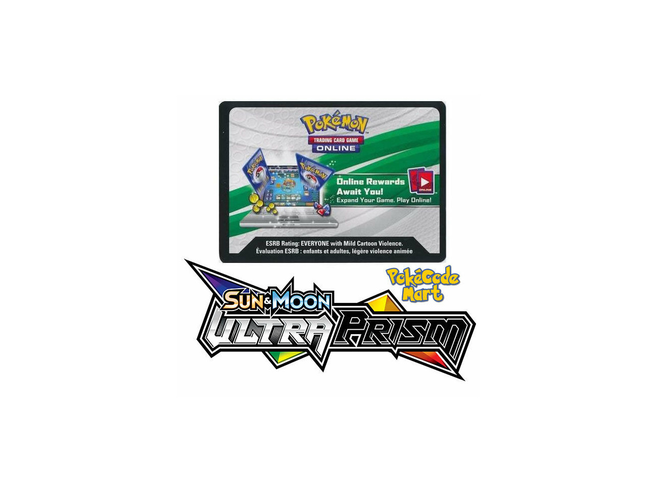 Sun /& Moon ULTRA PRISM Booster Code Cards Pokemon Online Bonus TCG XY SM Codes