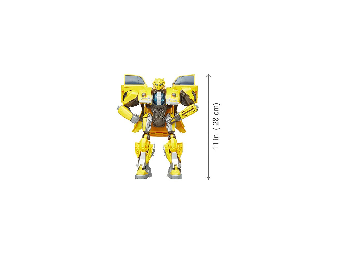 Transformers Bumblebee Action Figure Toy Robot W// Power Charge Lights Sounds