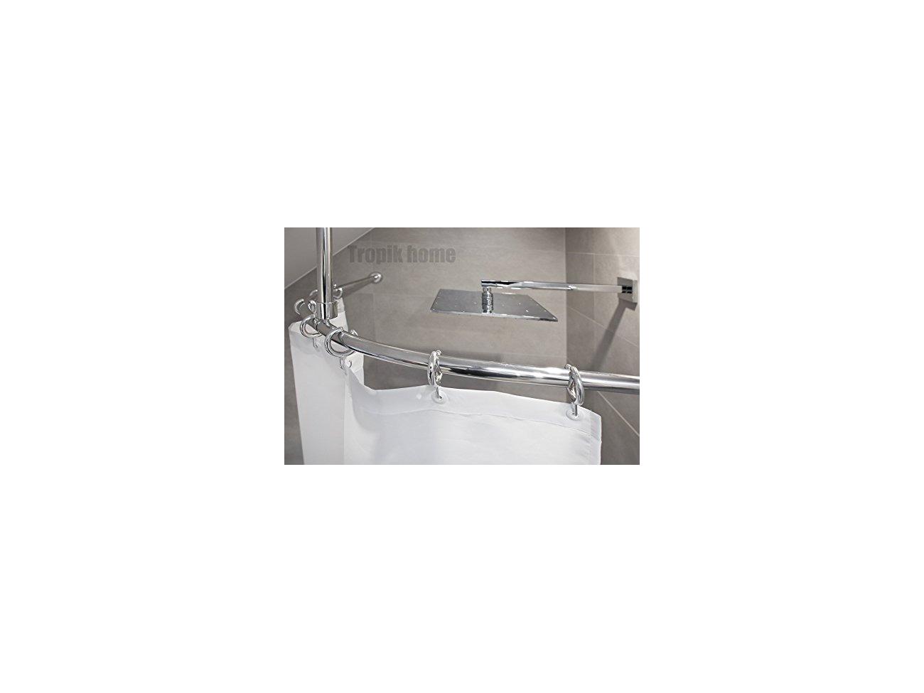 Buy Tropik Home Curved Shower Curtain Rail Pole Rod With