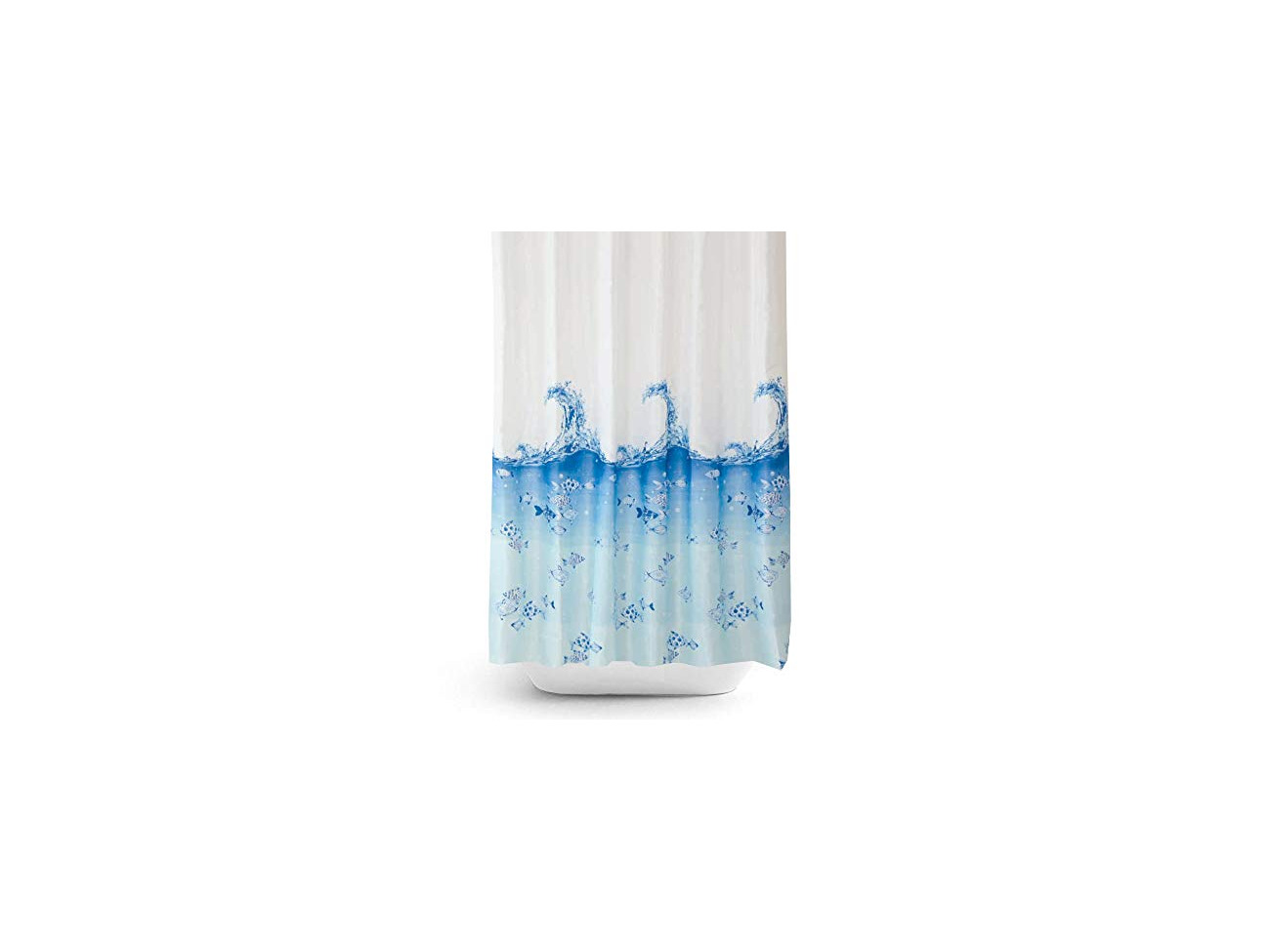 Buy Tropik Home Fabric Shower Curtain With Fishes Extra