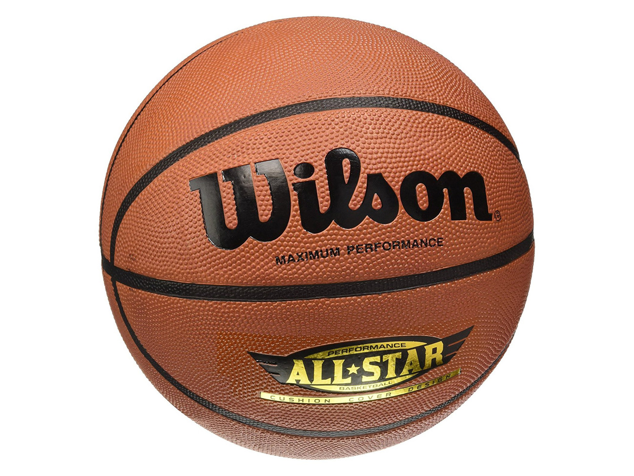 Asphalt Performance All Star Wilson Outdoor basketball Rough Surfaces Size 7 Brown Synthetic Floors 12 years and up WTB4040XB7