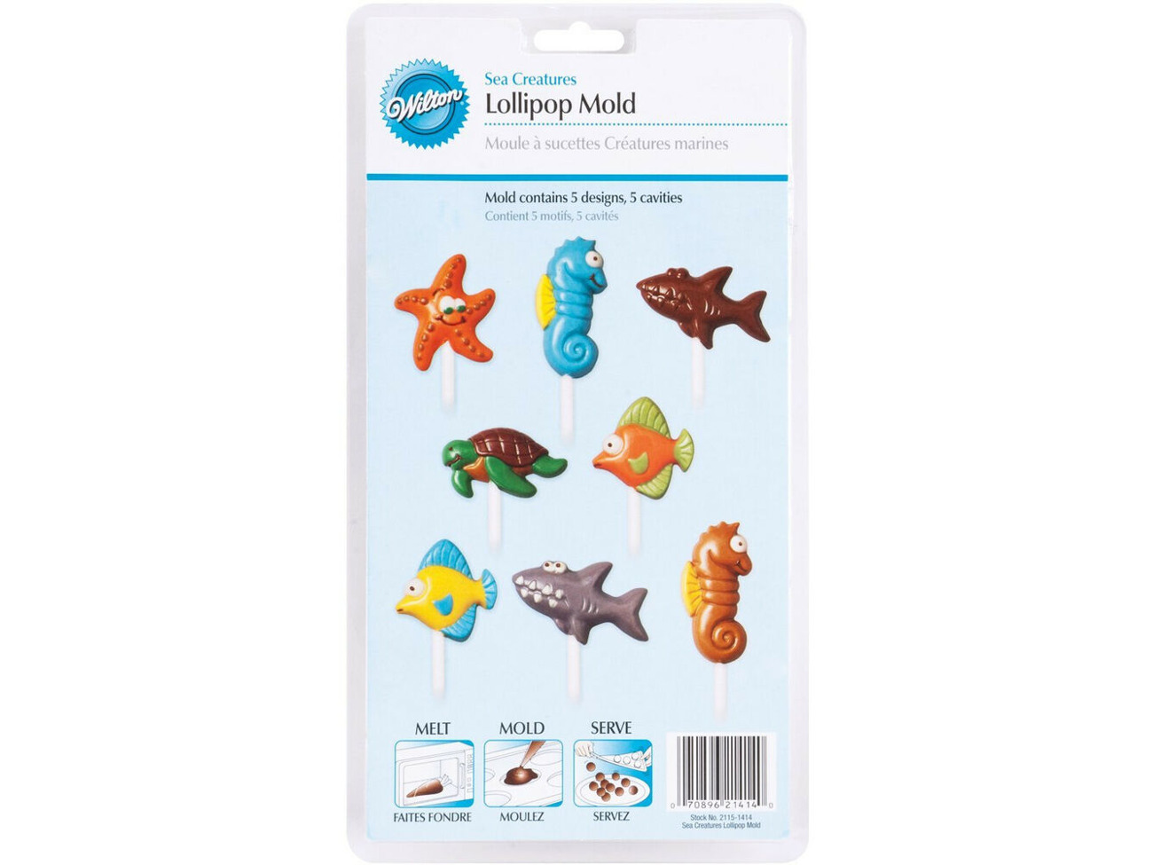Buy Wilton Various Candy Lollipop Moulds for Birthday