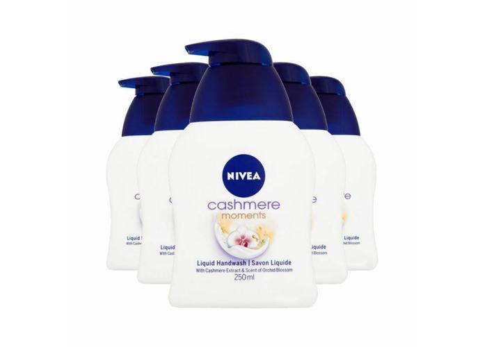 (6 x NIVEA X 250ml ) Cashmere Moments Liquid Handwash MULTI TYPES - 1