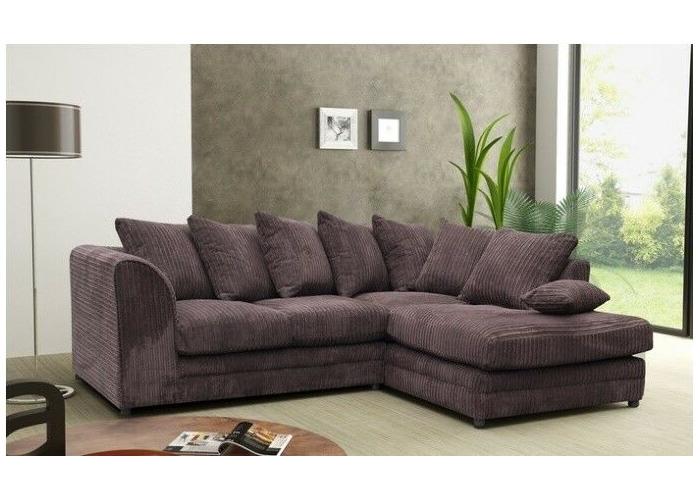 Buy ** BRAND NEW** Modern Chocolate Fabric Corner Sofa Cheap ...