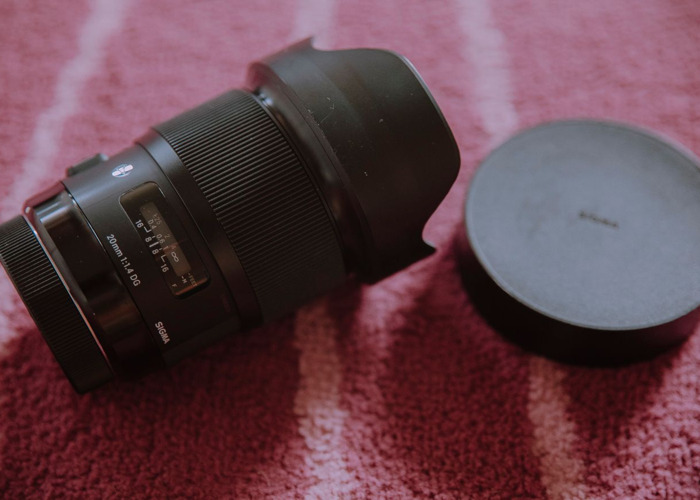 Sigma 20 mm F1.4 DG HSM Lens for Canon - 1