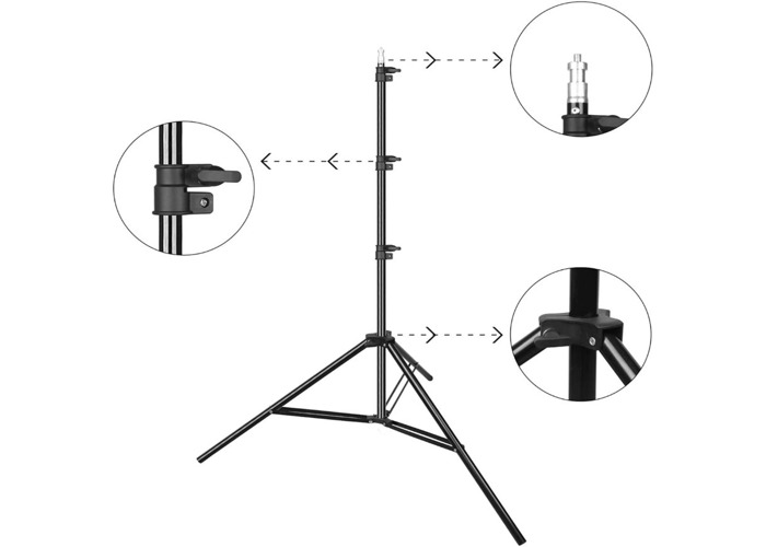 T-Shape Portable Background Backdrop Support Stand Kit 1.5M - 2