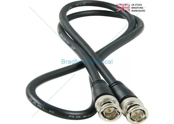 0.5m BNC Patch Leads High Quality RG59 for CCTV Cameras to DVR Video Cable - 2