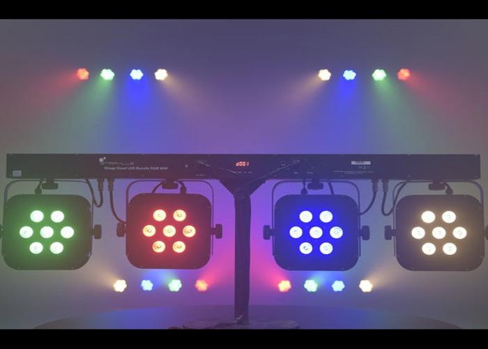1 Stairville 4 x 28w LED PAR BAR RGB WW LED LIGHTS - 1