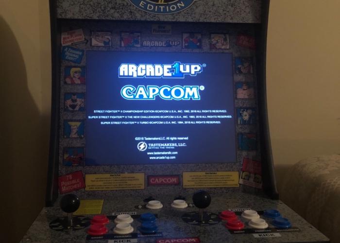 1 up Arcade machine (street fighter 2 edition) - 2