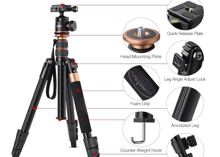 Travel Tripod up to 141cm (includes monopod) - 2
