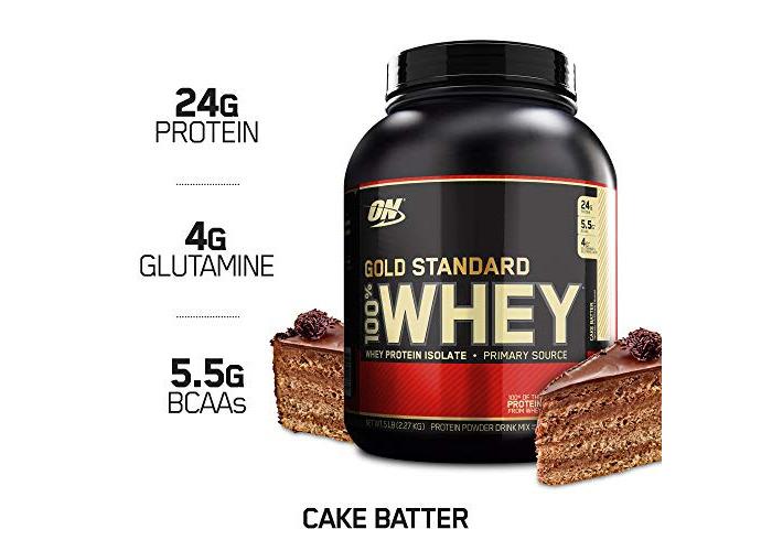 100% Whey Gold Standard, Cake Batter, 5 lbs (2,273 g) - 1