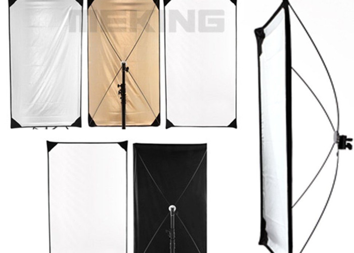 100x180cm Flag-Reflector-background-Panel-5in1 + Light Stand - 1