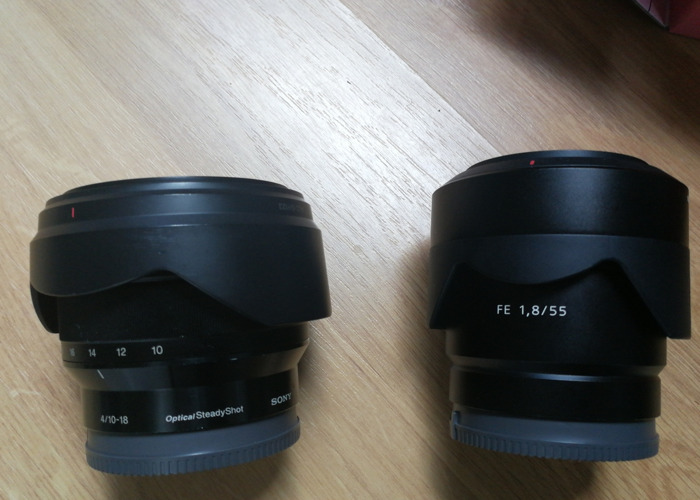 10-18mm 4.0Sony  & 55mm 1.8 Zeiss lens package - 2