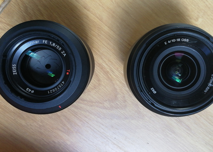 10-18mm 4.0Sony  & 55mm 1.8 Zeiss lens package - 1
