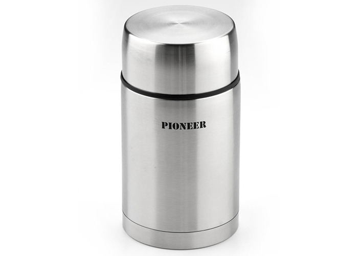 1.0l 24 hour Stainless Steel Food Flask, Unbreakable - Keeps food & drink warm for 8 hrs - Grunwerg - 1