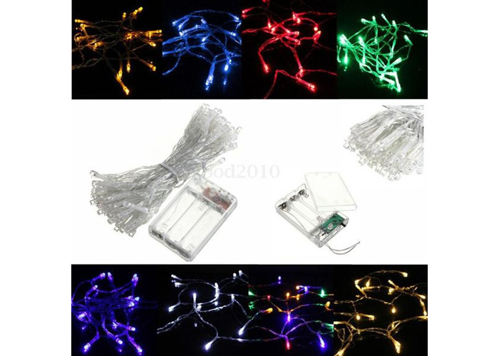10M 80LED Battery Powered LED Funky ON/ Twinkling Lamp Fairy String Lights - 1