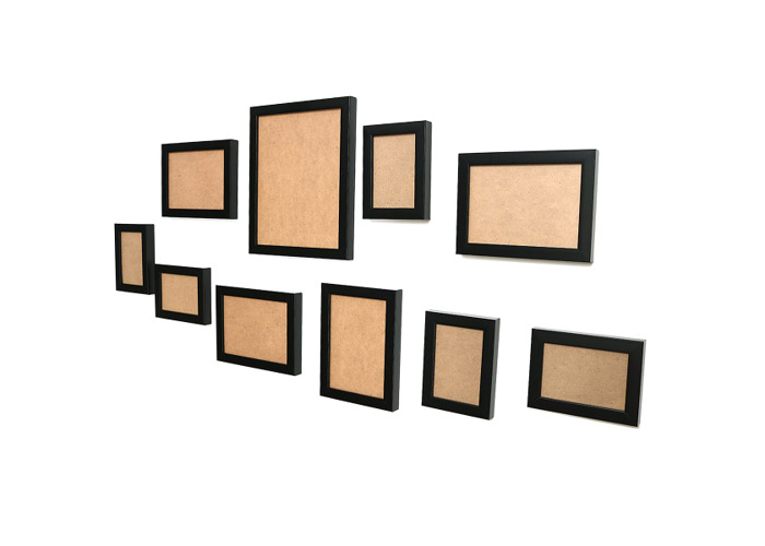 10Pcs Family Picture Multi Photo Frame Set Holds 10 Photos Aperture Wall Mounted - 2