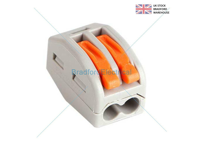 10x 2 3 5 Way Reusable Spring Lever Terminal Block Electric Cable Connector - 1