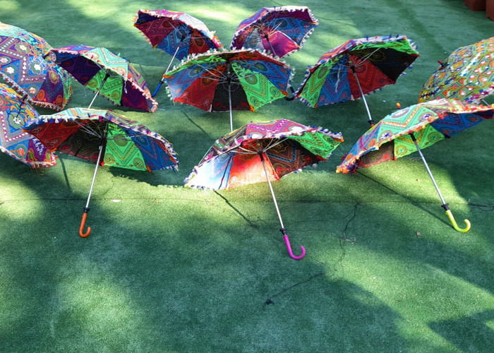 10xIndian cotton party decor umbrellas - 1