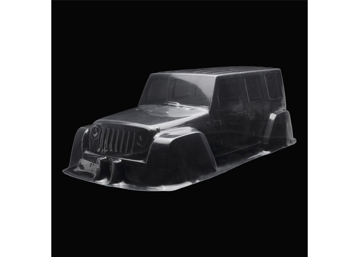 1/10 Clear Transparent PVC 313mm Wheelbase RC Car Body Shell for Jeep D90 Model - 1