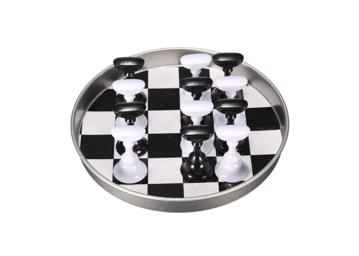 12 Pcs Chess Board Nail Art Tips Display Holder Crystal Magnetic Stand Set Manicure Salon - 1