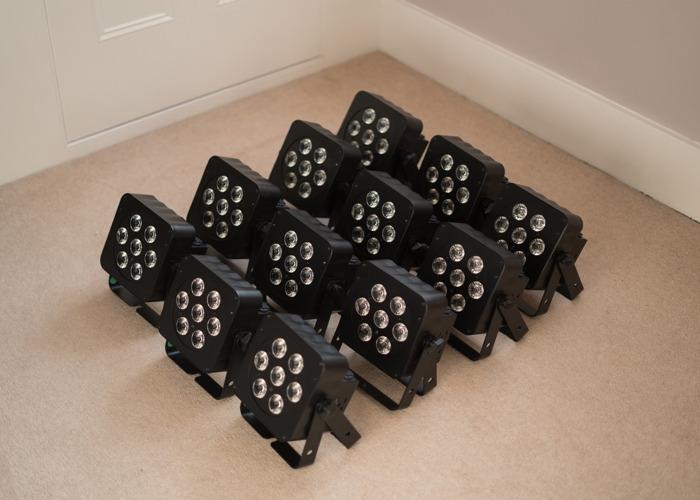 12 x LEDJ PAR Cans (RGBW) + Cases and Cables - 2