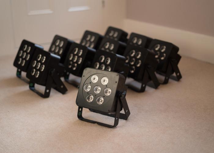 12 x LEDJ PAR Cans (RGBW) + Cases and Cables - 1