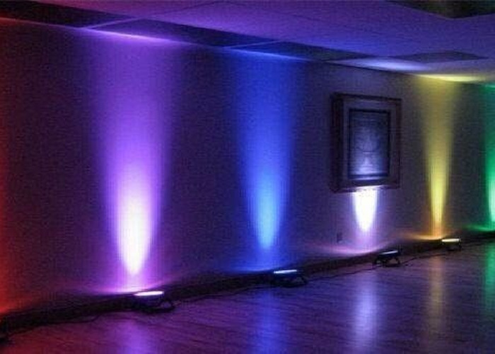 12 x wireless LED uplighters  mood lights party lights  - 2